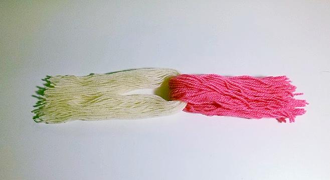 складываем нитки