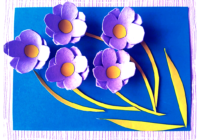 цветы из яичной коробки