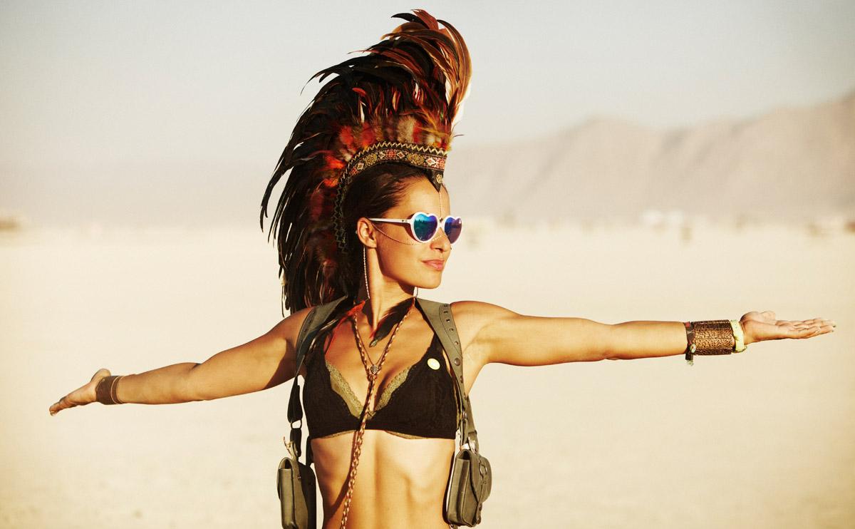 раскрепощенность на фестивале «Burning Man»