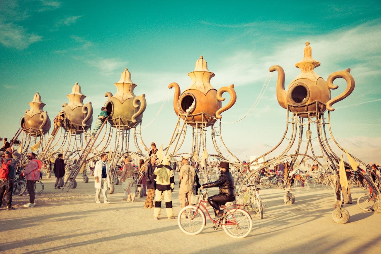 """необычные фигуры фестиваля """"Burning Man"""""""