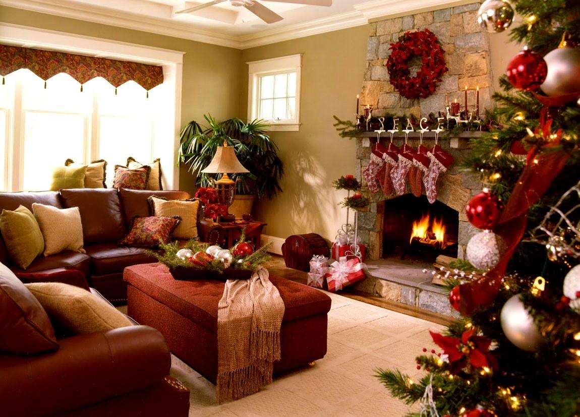 украшаем интерьер к Новому году