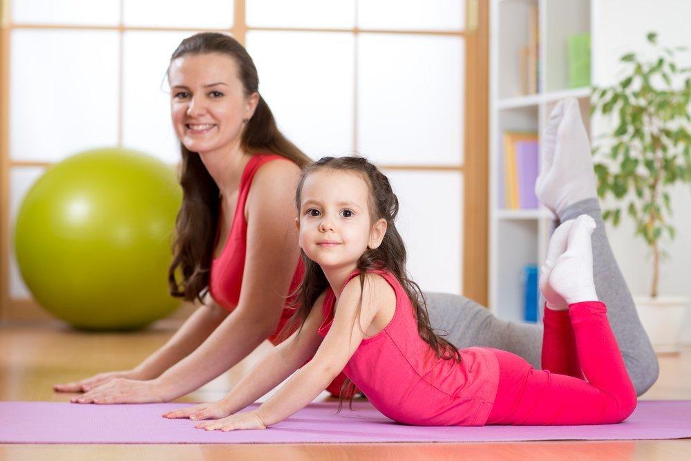 Родители преобщают ребенка к здоровому образу жизни