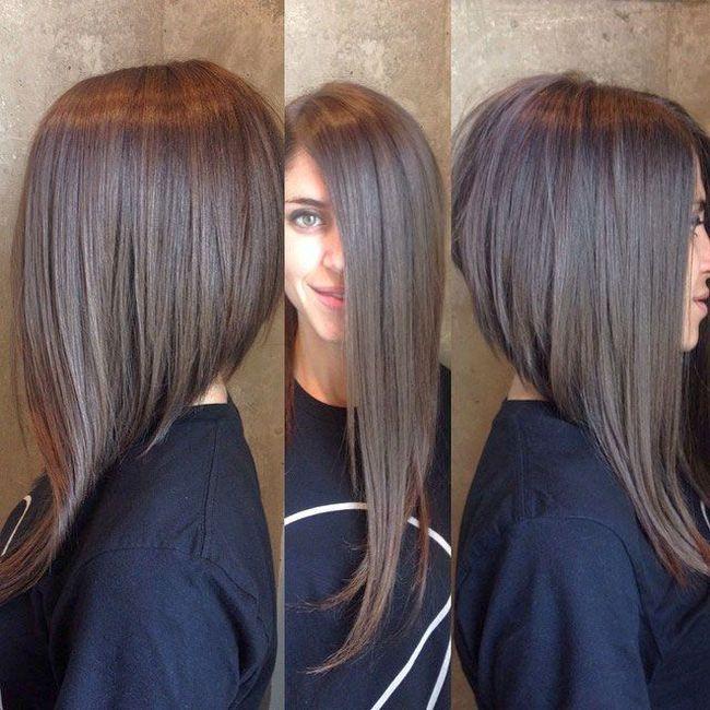 Женская стрижка на длинные волосы фото