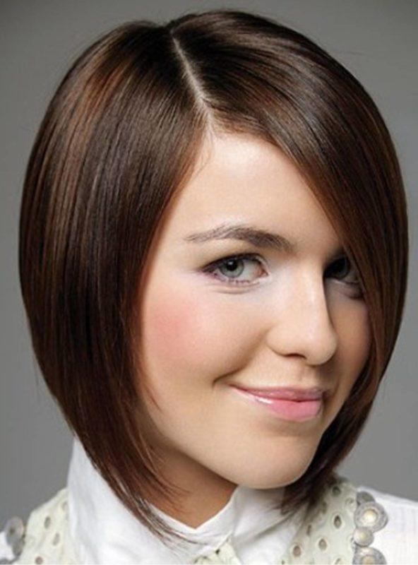женская прическа средняя длинна волос фото