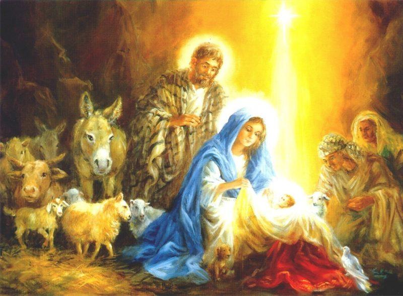 Спаситель мира родился в пещере, ночью. Дева Мария пеленала его и положила в кормушку для скота. Исполнилось пророчество о пришествии Спасителя. Пастухи узнали дивную весть от Ангела.
