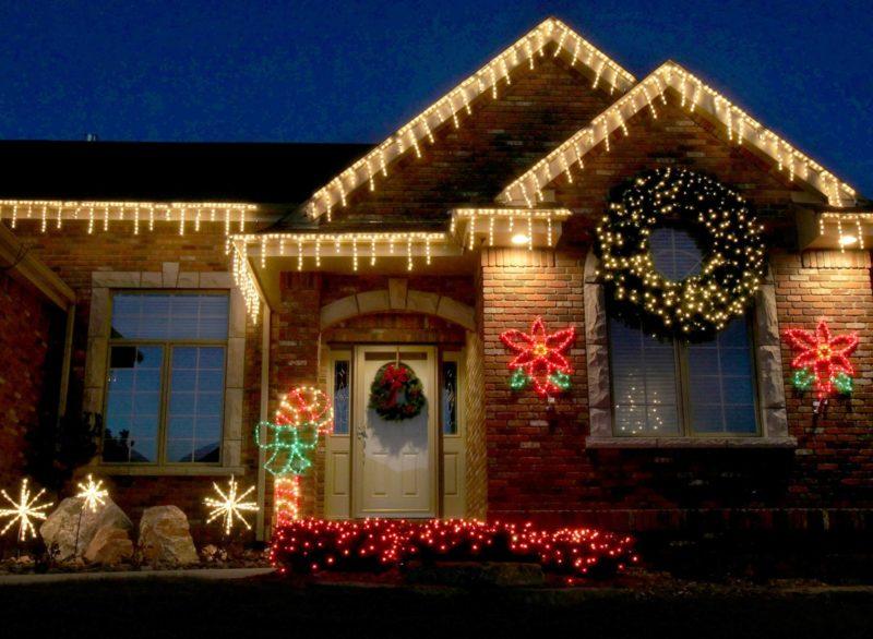 Подсветка на праздник Рождества
