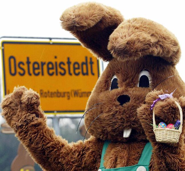 Остерайштед – город пасхального яйца.