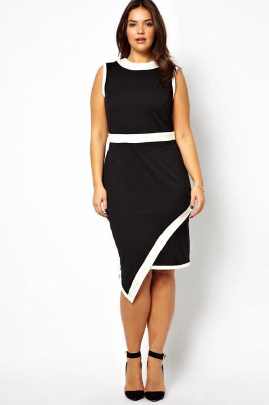 Платье с запахом на полной женщине