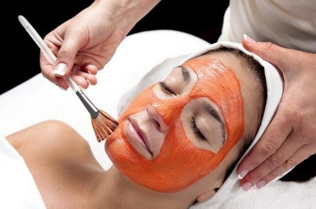 Морковно - белковая маска