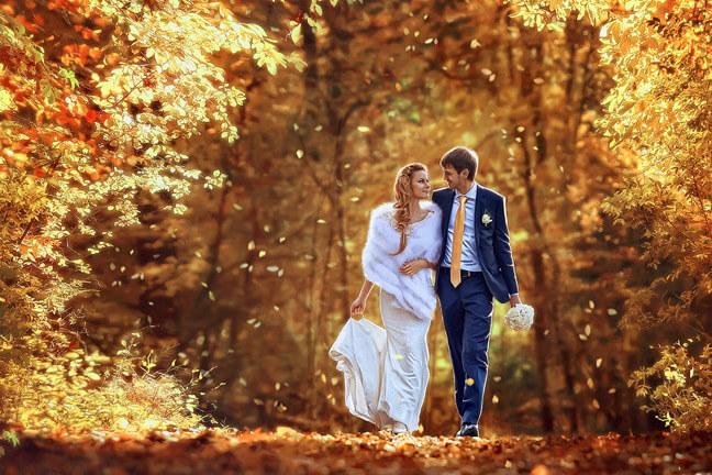 Осенние свадьбы самые яркие