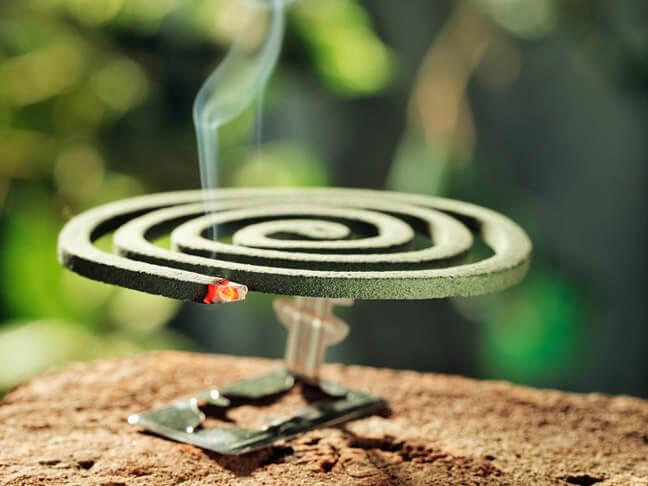 Дымящаяся спираль от комаров