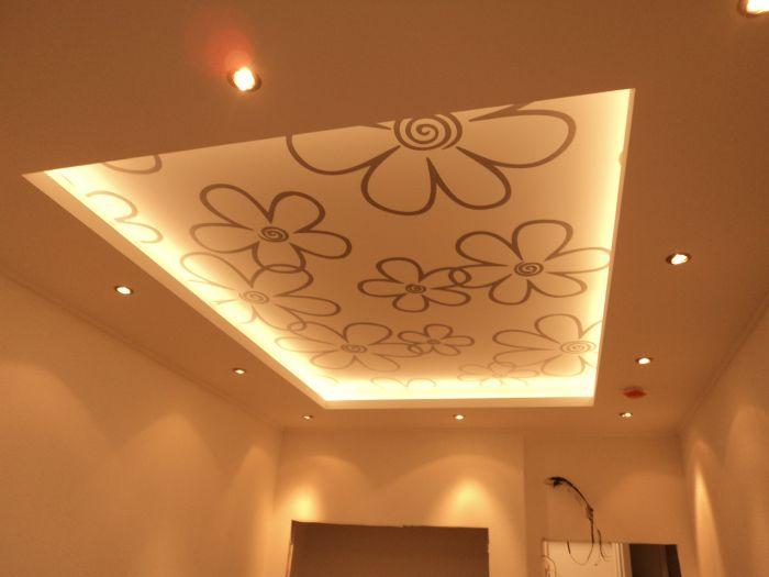 потолки с монохромным рисунком