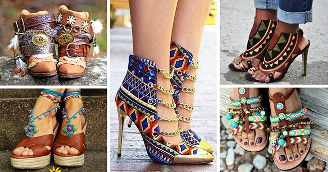 сандалии бохо
