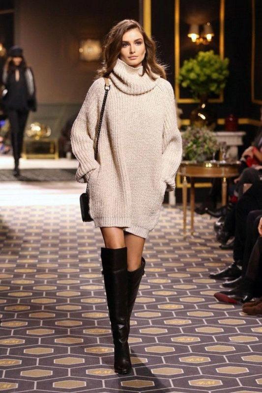 Платье – свитер тренд сезона