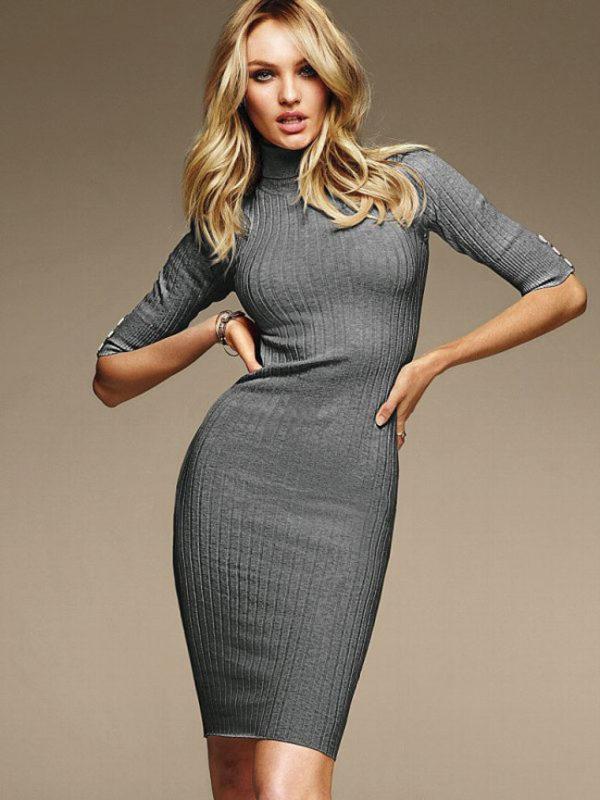 Платье - водолазка  в тренде