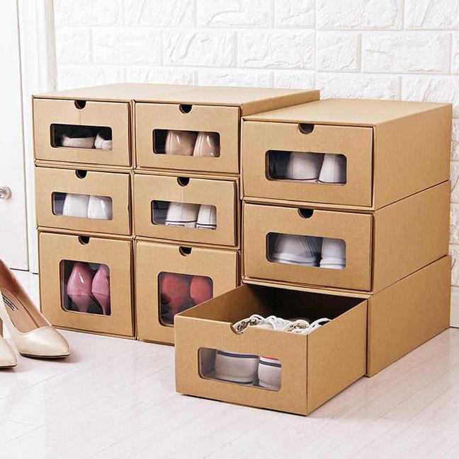 комод из картона для хранения обуви