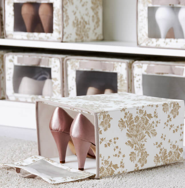 Хранение обуви - коробки скубб
