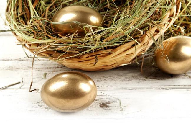 Яйца получаются необыкновенно красивыми