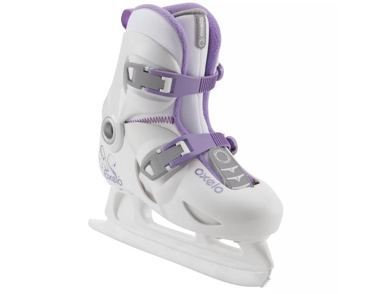 Коньки ледовые раздвижные OXELO PLAY 3 для девочек.
