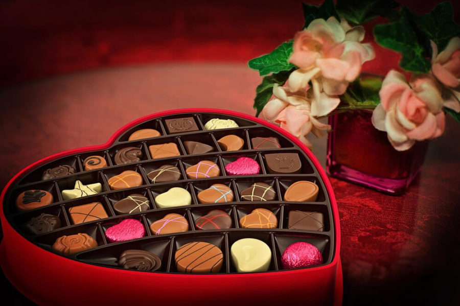 Сладкий подарок на день влюбленных.
