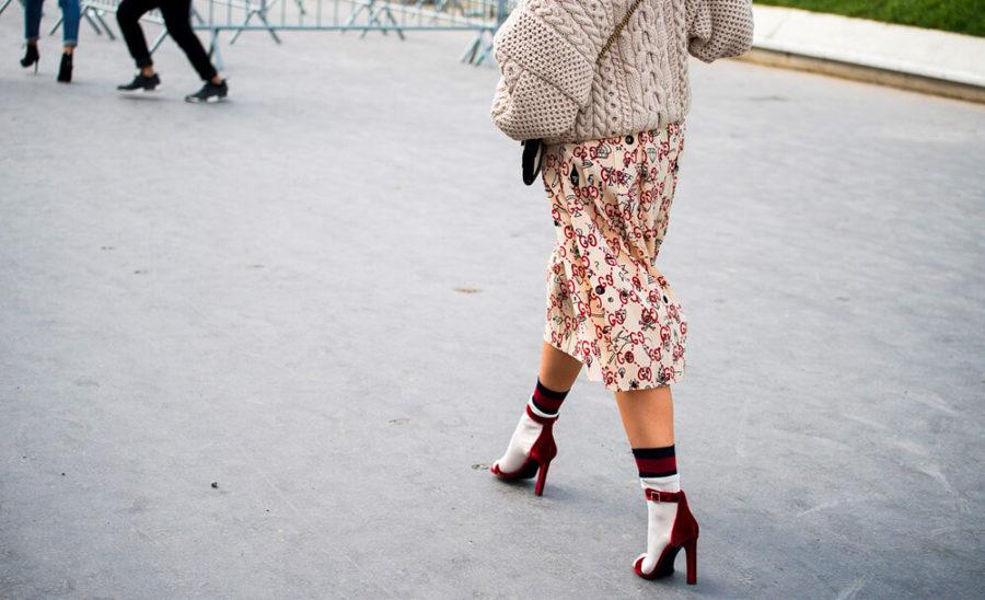 Носочки. Очень популярный прием в моде.